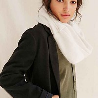 Urban Renewal Recycled Cashmere Patch Snood Scarf- White One