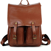 Brown Vintage Inspired Fashion Backpack