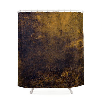 Grunge Shower Curtain, 4 Colors, Gradient Texture, Gold Bath, Industrial Pattern, Minimalist Art, Urban Design, Modern Bath, Young Bathroom