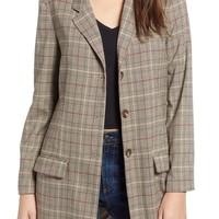 BB Dakota Ex-Boyfriend Plaid Blazer | Nordstrom