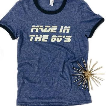 Made In The 80's Ringer Tee