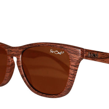 Wood Grain Polarized Amber Lens