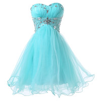 2016 New Fashion Blue Short Design Knee Length Ball Gown Prom dress Formal Quinceanera Homecoming dresses for Girl Party CL6179