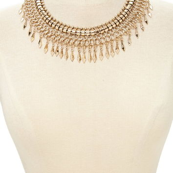 Spike Charm Statement Necklace