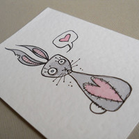 Mini Art Card Zombie Bunny | Luulla