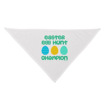 Easter Egg Hunt Champion - Blue and Green Dog Bandana 26 by TooLoud