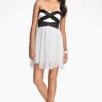 Hailey Logan Sweetheart Chiffon Dress (Juniors) (Online Exclusive) | Nordstrom