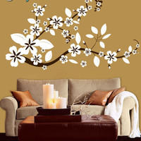 Vinyl Wall Decal Sticker Flower Floral Asian Blossom #284