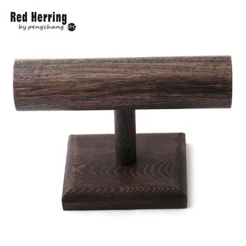 Free Shipping DIY Wood Display T-BAR Watch/Bracelet Jewelry Display Stand Holder