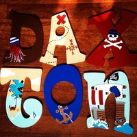 CIRCO PIRATE COLLECTION INSPIRED HAND PAINTED WOOD WALL LETTERS