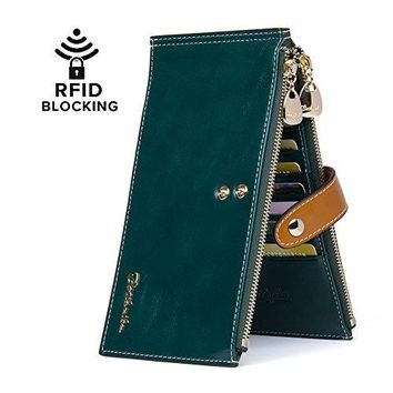 BOSTANTEN RFID Blocking Leather Wallet Multi Credit Card Holder Wallets for Women