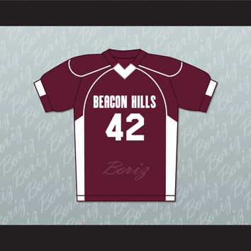 Scott Howard 42 Beacon Hills Cyclones Lacrosse Jersey Teen Wolf