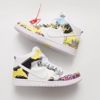 NIKE DUNK HIGH PRM DLS SB QS MENS SKATEBOARD  SNEAKERS