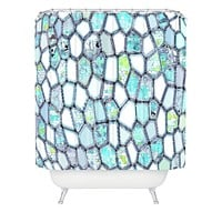 Ingrid Padilla Blue Cells Shower Curtain