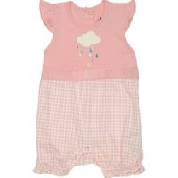 Light Coral One Piece Cotton Jersey Print Bodysuit by Juicy Couture,