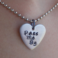 Pass Me By R5 hand stamped heart necklace