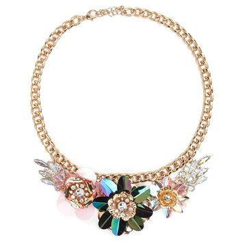 Iridescent Flower Necklace