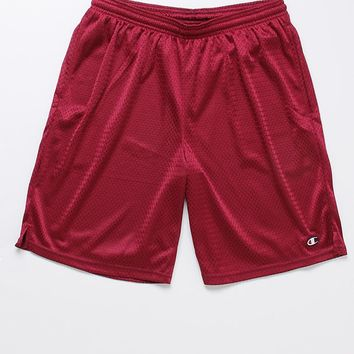 Champion Mesh Shorts - Mens Shorts - Maroon - Medium