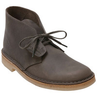 Clarks Desert Boot Grey Leather Grey Boot
