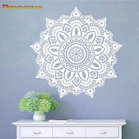 Removable Mandala Yoga Home Decorations Vinyl Wall Stickers Home Decor Living Room Om Symbol Mehndi Namaste Wall Decals MA-02