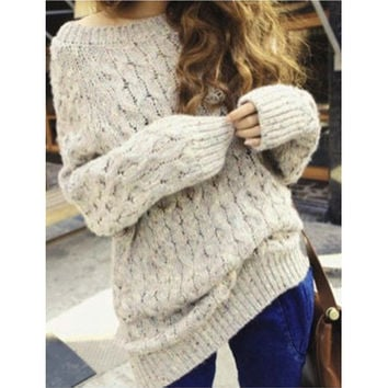 RETRO FASHION WOMEN LOOSE SWEATERS