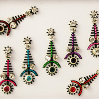 Stunning Bindis with Crystals- stick on face jewel Crystal.