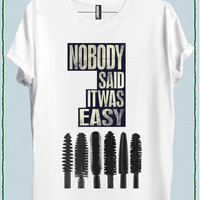 NOBODY SAID IT WAS EASY MASCARA WOMEN T-SHIRT code20816