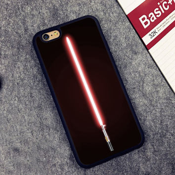 Star Wars Lightsaber red Printed Soft Rubber Phone Cases Accessories For iPhone 6 6S Plus 7 7 Plus 5 5S 5C SE 4 4S Cover Shell
