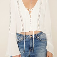 Crochet Panel Crop Top