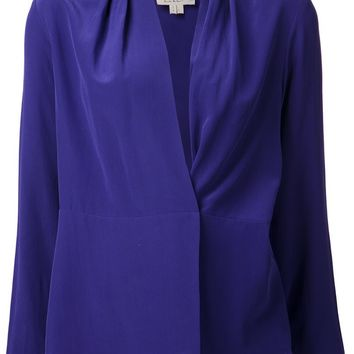 Nicole Miller crossover wrap blouse