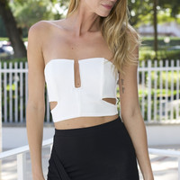 Crepe Tube Cut Out Top