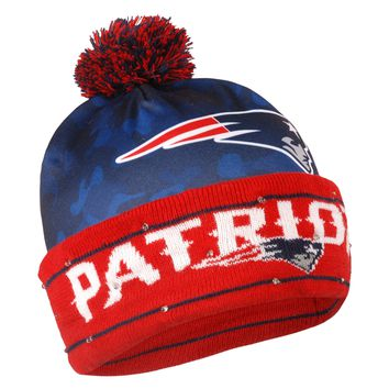 New England Patriots Official NFL Camouflage Light Up Printed Beanie