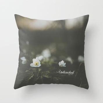 Untouched I Throw Pillow by HappyMelvin