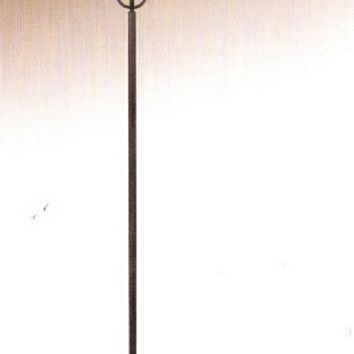 A.M.B. Furniture & Design :: Accessories :: Floor Lamps :: Crimson coffee metal finish floor lamp with amber alabaster glass shade