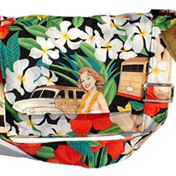 Hemet Hawaiian Pinup Girls Messenger Bag