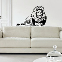 Lion Version 5 Design Animal Decal Sticker Wall Vinyl Decor Art