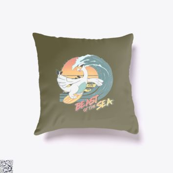 Beast Of The Sea, Pokemon Throw Pillow Cover