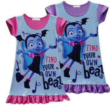 Vampirinas Cosplay Costumes Girls Vampirina Dress Kids Party Dress Girls sleepwear Nightgown summer children clothing H982
