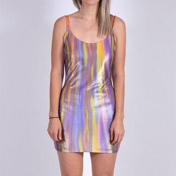 90's Shiny Party Mini Dress XS/S