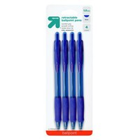 Up & Up Blue Retractable Ballpoint Pens 4-ct.