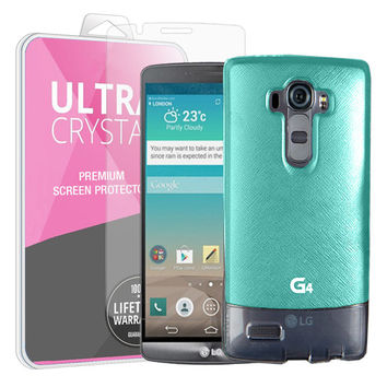 Cellto Buckle for LG G4 (2015) Hybrid PU Leather & Silicone Flexible Case Cover with Free HD Crystal Clear Screen Protector