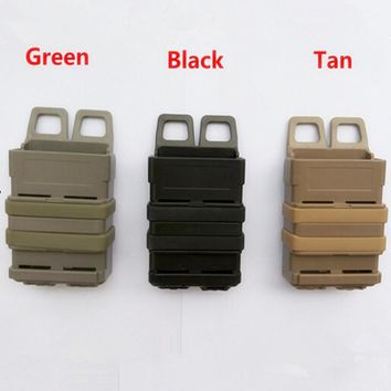 The triple gear bag quick magazine MOLLE Airsoft fast MAG MOLLE pouch clip / 5.56 mm  fast mag M4 magazine pouch holster