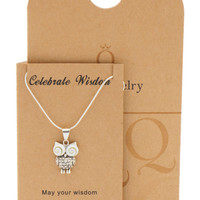 Ruth Owl Necklace Graduation Gifts and Cards with Wisdom Quotes