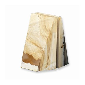 Natural Tan Marble Bookends