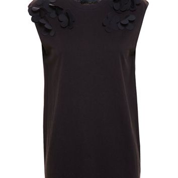 Sleeveless T-Shirt with 3D Flowers - SIMONE ROCHA