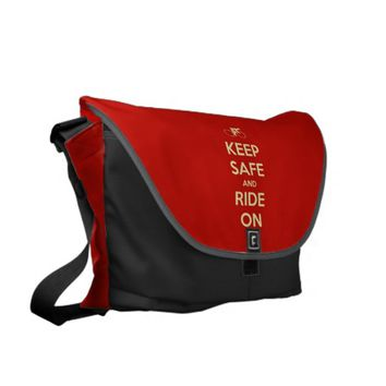 Keep Safe And Ride On Messenger Bag