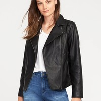 Faux-Leather Moto Jacket for Women | Old Navy
