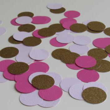 Pink, Blue, Yellow, Gray, Silver, Gold Confetti - 75 Pieces