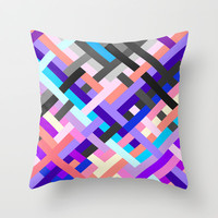 Geometric No. 14 Throw Pillow by House of Jennifer