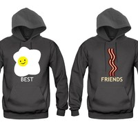 Best Friends Eggs and bacon Girl BFFS Hoodies